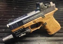 surefire light for glock 23 glock 19 gen 4 9mm 15rd salient arms grip and slide modifications