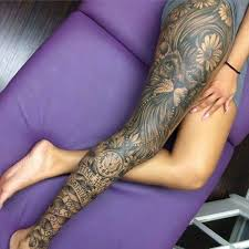 thigh tattoos thighs and piercing