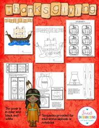 activities thanksgiving lapbook with resources