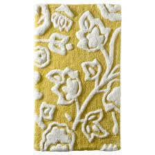 floral bath rug yellow threshold bath rugs blue yellow grey