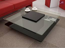 modern living room table furniture rectangle coffee table with glass top contemporary