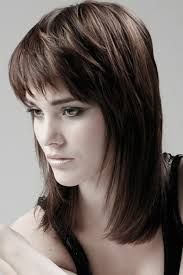 whats choppy hairstyles choppy brown layered shoulder length cut with bangs this is what i