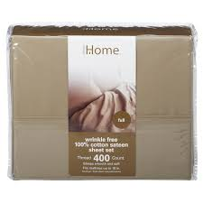 Meijer Patio Furniture Sets - home sheet set 400tc sateen full khaki meijer com