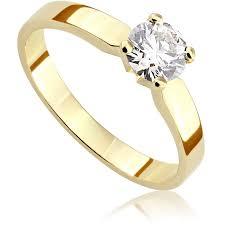 pierscionek zareczynowy pierścionek zaręczynowy z diamentem z żółtego złota p0200zb