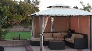 Metal Pergolas With Canopy by Patio Hard Top Conversion From Canvas Youtube