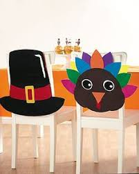 easy to make turkey chair covers craft thanksgiving