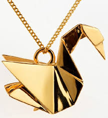 gold animal pendant necklace images Origami animals jewelry art kaleidoscope jpeg