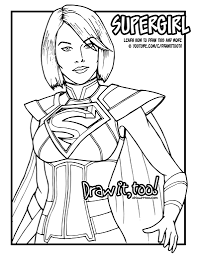 draw supergirl injustice 2 narrated easy step step