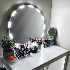 Makeup Vanity With Lighted Mirror Shop Amazon Com Vanity Mirrors