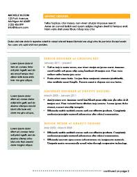 2 Page Resume Template Modern Resume Templates 64 Examples Free Download