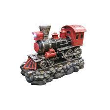 spirit halloween alpine alpine 26 in red locomotive fountain win926 the home depot