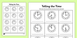 half past time worksheets o u0027clock half past times