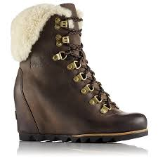 s shearling boots canada sorel s conquest wedge shearling boots altitude sports