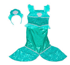 mermaid tails for halloween amazon com melissa u0026 doug mermaid role play costume set gown