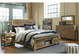 Dresser As Nightstand W A Akins U0026 Sons Sommerford Brown Queen Storage Bed W Dresser
