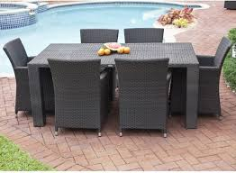outdoor wicker dining table antiqua collection outdoor wicker dining table and chairs modern