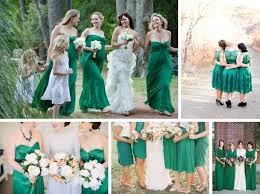 coral mint peach emerald and navy bridesmaid dresses