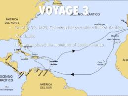 Map Of Christopher Columbus Voyage To America by Columbus By Calley Sullivan