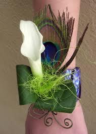 calla corsage calla corsage white small feather floral design by jacqueline
