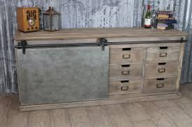 copper sideboard industrial look oak and pine sideboard
