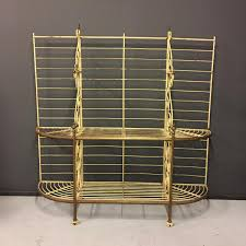 Bakers Rack Console Antique French Metal And Brass Bakers Rack 1920s For Sale At Pamono