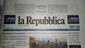 l amaca repubblica ci stann certe fuosse oggi sul quotidiano la repubblica un