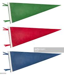 Triangle College Flags Pennant Stock Photos And Pictures Getty Images