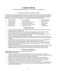 Sample Electronics Engineer Resume Electrical Project Engineer Resume Sample Resume For Your Job