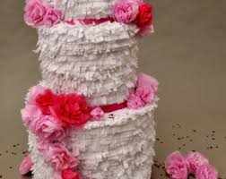 wedding cake pinata custom color white large wedding cake piñata 17x11x11 inches