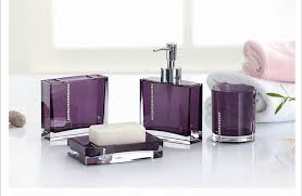 Wall Mounted Bathroom Accessories Sets by Acrylic Bathroom Set 4pieces Purple White Black Bath Sets Bathroom