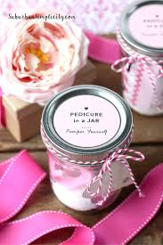 diy pedicure in a jar mason jar gift