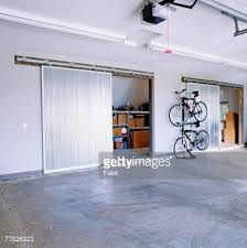 Large Garage Empty Two Car Garage Stock Photo Getty Images