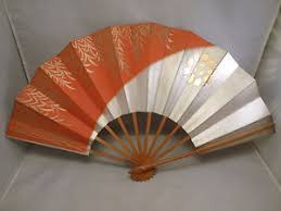 oriental fan wall hanging vtg hand painted oriental asian hand folding hanging wall fan old