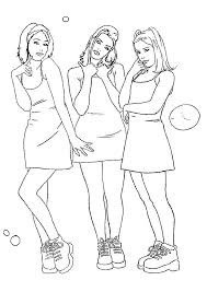 coloring sheet 3 cute girls coloring point coloring point