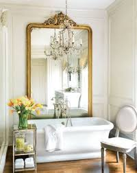 bathroom small french country bathroom with high brass framed