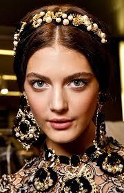 jeweled headbands zoe dolcce gabana tendência tiara black and