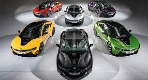 bmw car in black colour bmw bmw i8 individual colours
