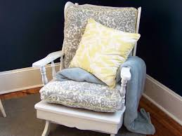 Rocking Chair Cushion Sets Chair Pads With Ruffles Flax Linen Chair Seat Cover With Ruffle