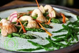 salicorne cuisine salade de langoustines aux asperges et aux salicornes rêveries