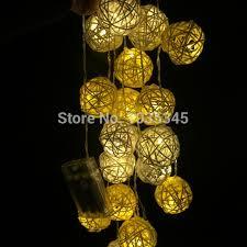 rattan ball fairy lights 20 set handmade rattan ball string lights fairy light ideas lighting