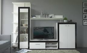 Wohnzimmerschrank Ohne Tv Fach Wohnwand Cyndie Weiß Schwarz Ca 283cm Wohnwände Online Poco