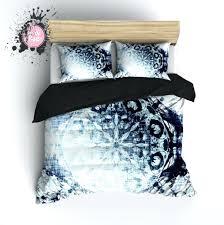 Chic Duvet Covers Duvet Covers Boho Blue Ombre Mandala Duvet Bedding Sets Boho