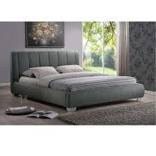 Baxton Studio Bed Baxton Studio Olson Modern Grey Queen Size Platform Bed Free
