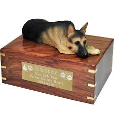 cremation urns for pets wholesale pet cremation wood urns german shepherd laying