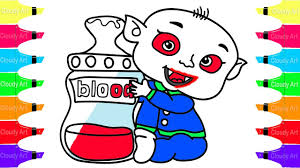 how to draw vampire baby coloring pages ghost baby for kid