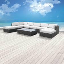 Modern Wicker Patio Furniture by Sofa Sets Modern Sofas Belizo Aphrodite 9 Pcs Wicker Patio