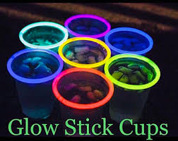 glow in the cups glow sticks etsy