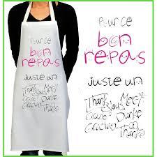 tablier de cuisine personnalisé pas cher tablier de cuisine rigolo merci cadeau rigolo pour femme