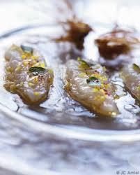 comment cuisiner les langoustines langoustines crues marinées pour 4 personnes recettes à table