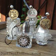 vintage salt shaker ornament tutorial
